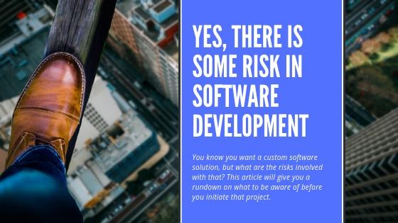 Custom software development risks