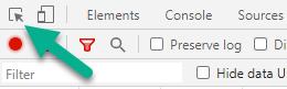 Chrome's DevTools element inspection tool.