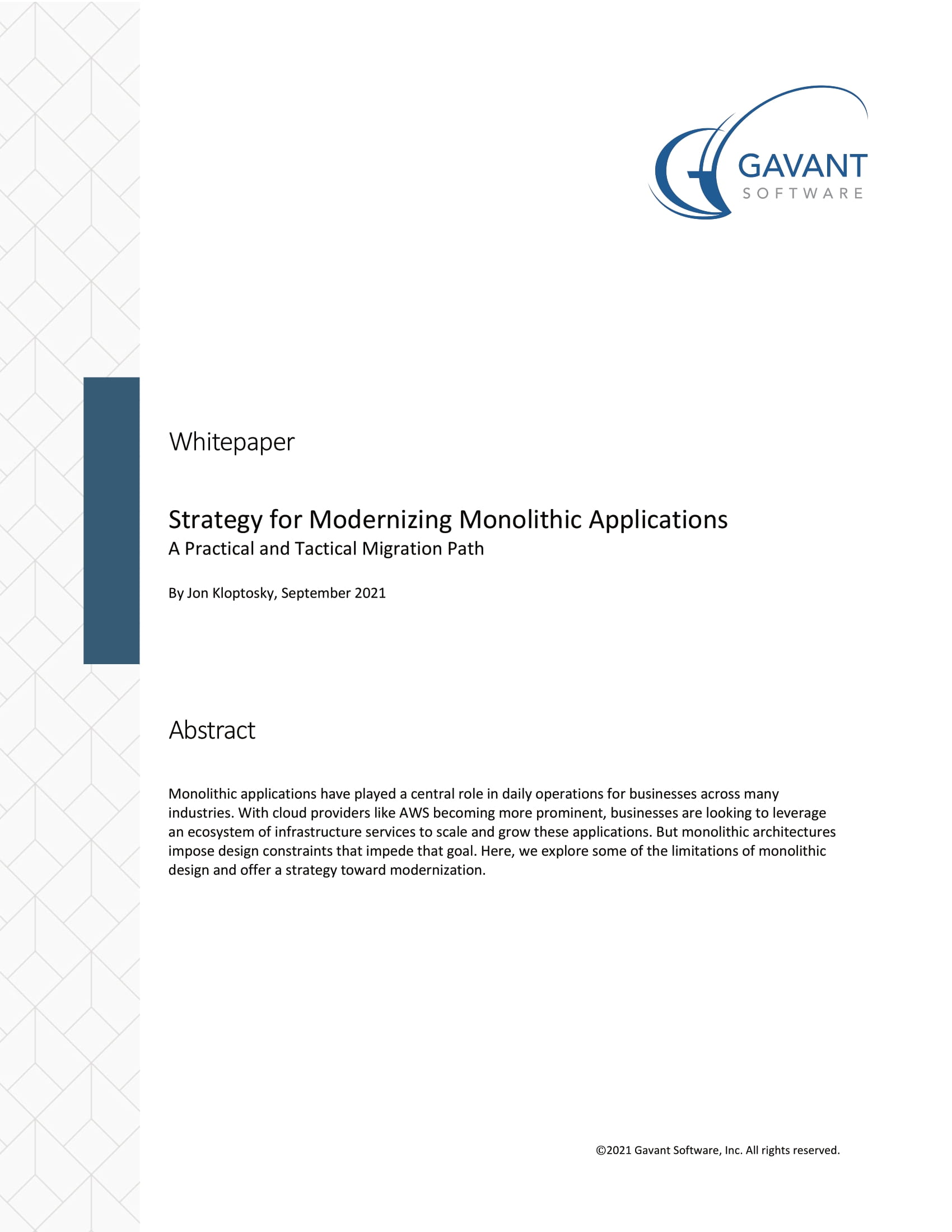 Strategy for Modernizing Monolithic Applications